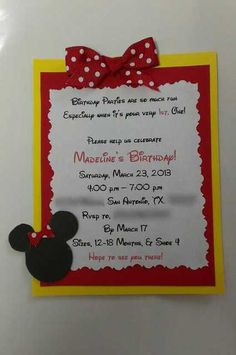 Minnie Invites