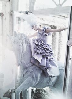 """Olga Sherer in """"A Magic World"""" shot by Tim Walker for Vogue Italia January 2008 taken from Tim Walker: Story Teller"""