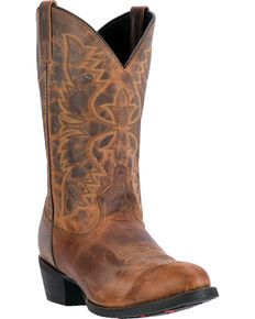 25cd4c00f3b Laredo Men s Embroidered Round Toe Western Boots