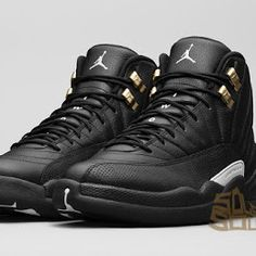 43c829c9bbd576 Cheap Air Jordan 12 XII The Master Poster Wing Blackout Anthracite Size 9