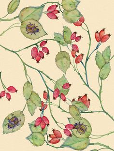 Rose Hips by Colleen Parker. http://perfectodia.blogspot.com.es