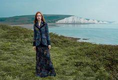 Dani Witt by Agata Pospieszynska for Town & Country UK Autumn 2016 -  Miu Miu Fall 2016 jacquard jacket and skirt