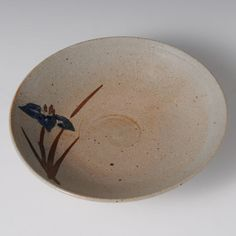 Yoshihiro Mizokami • Snack Bowl with Karatsu Picture Design and Blue Flag Decoration