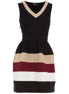 Black stripe v-neck dress. dont know why but i love this