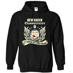 New Haven - Its Where My Story Begins! (NEW DESIGN) - #t shirts for sale #wholesale sweatshirts. MORE INFO => https://www.sunfrog.com/LifeStyle/New-Haven--Its-Where-My-Story-Begins-NEW-DESIGN-2195-Black-Hoodie.html?id=60505
