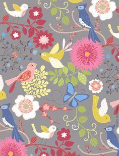 Birds & flower print by jill mcdonald design fondos para tarjetas, fond Textures Patterns, Print Patterns, Jill Mcdonald, Illustrations, Surface Pattern Design, Cute Illustration, Bird Art, Pattern Paper, Pattern Wallpaper