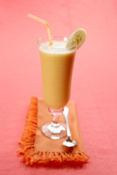 Apple-Banana Smoothie - Goodness in every sip and spoonful.  Check out more smoothies, snacks and spreads at Motts.com/recipes.