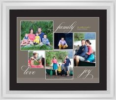 Family Sentiments Framed Print, White, Classic, White, Black, Single piece, 16 x 20 inches, Brown