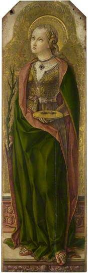 St. Luzia {Lucia} of Sicily, patron Saint of Eyes #catholicism