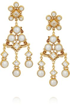Percossi Papi | Gold-plated, pearl and topaz earrings | NET-A-PORTER.COM