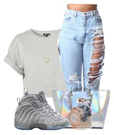 """""""pull up on a kid """" by chiamaka-ikaraoha ❤ liked on Polyvore featuring Topshop, Wanderlust + Co, GUESS, Casetify, Michael Kors and NIKE"""