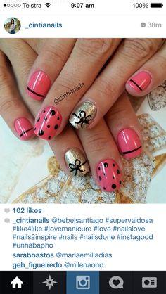 #nails #nailart love the bows