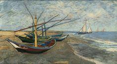 Fishing Boats on the Beach at Saintes-Maries I Van Gogh I Arles 1888 I Van Gogh Museum, Amsterdam