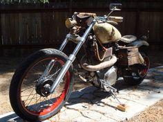 Custom Yamaha powered Rat Bike bobber/chopper