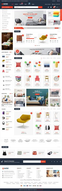 eMarket is clean and modern design responsive #OpenCart 3 theme for stunning online store #eCommerce website with 10+ different homepage layouts download now..