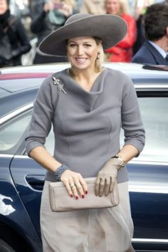 Queen Máxima, Oct. 17, 2013 in Fabienne Delvigne | The Royal Hats Blog