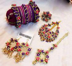 Silk Thread Bangles Design, Thread Jewellery, Fabric Jewelry, Jewellery Uk, Fashion Jewellery, Handmade Jewellery, Flower Jewellery For Mehndi, Flower Jewelry, Gota Patti Jewellery