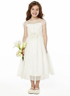 Amber Ivory Bridesmaid Dress - child dresses - young bridesmaids  - Wedding