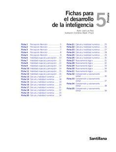Fichas desarrollo de la inteligencia 5