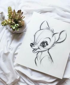 Mi dibujo de Disney - Bambi You are in the right place about disney stuff Here we offer you the most beautiful pictures about the disney stuff for kids you are looking for. When you examine the Mi dibujo de Disney - Bambi pa. Disney Drawings Sketches, Art Drawings Sketches Simple, Pencil Art Drawings, Animal Drawings, Easy Drawings, People Drawings, Drawing Disney, Drawing Ideas, Disney Kunst