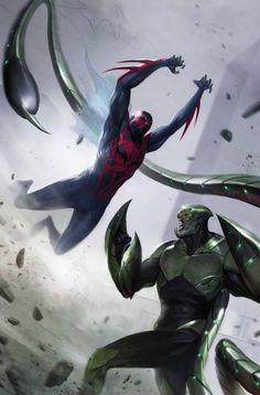 SPIDER-MAN 2099 #4 & 5 PETER DAVID (w) • ISSUE #4 - Will Sliney (a) ISSUE #5 - Rick Leonardi (a) CoverS by Francesco Mattina