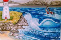 Print of Light House Light House, Nature Animals, House Painting, Oceans, Rivers, Sunshine, Fine Art, Artwork, Inspiration