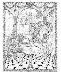 Carousel Horse By Doodleartposters