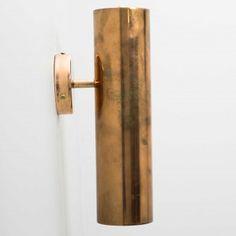 Apique pared cilindro 8cm  cobre viejo