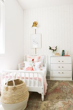 A Pretty in Pink Big Girl Bedroom