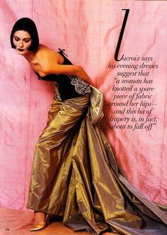 US Vogue March 1995 Paris Couture : The Haute Life Ph: Bruce Weber Model: Shalom Harlow Fashion Editor: Grace Coddington Hair: Didier Malige