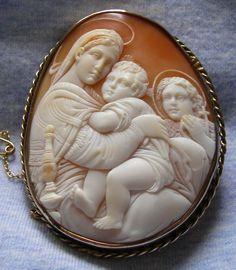 Gorgeous Cameo of The Virgin Mary & Jesus...beautiful