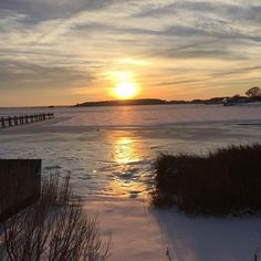 Frozen Bay at sunset 2/17/2015