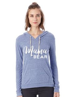 Mama Bear Eco-Jersey Pullover Hoodie
