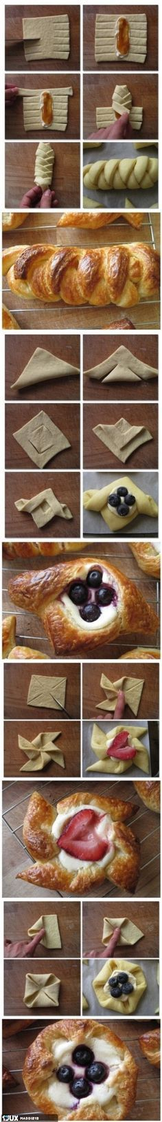 Pastry Folding Hacks Community Post: 40 Creative Food Hacks That Will Change The Way You Cook Fun Desserts, Delicious Desserts, Dessert Recipes, Yummy Food, Awesome Desserts, Gourmet Desserts, Fun Recipes, Plated Desserts, Recipe Ideas