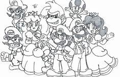 Mario Kart 8 Coloring Page Fresh Super Mario Characters Coloring Pages At Getcolorings In 2020 Super Coloring Pages Super Mario Coloring Pages Coloring Pages