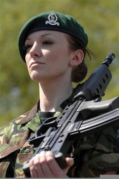 "Meet Katrina Hodge, a corporal in the British Army and Miss England 2009. She enlisted back in '04 after her brother challenged her to and earned the nickname ""Combat Barbie"" after showing up at her assigned unit wearing false eyelashes, kitten heels and carry a pink suitcase. In '05 her unit, the Royal Anglian Regiment, was deployed to Iraq, where she saved the lives of her comrades from a prisoner by wrestling not one, but two rifles from him and then knocking his ass out with her bare…"
