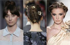 Wedding hair bridal up'dos French twist smooth