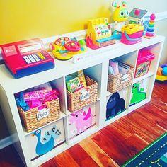 Playroom Organization, Organization Hacks, Home Daycare, Staying Organized, Cubbies, Kids Toys, Shelving, Storage, Tips