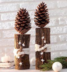 Risultati immagini per basteln mit holz weihnachten
