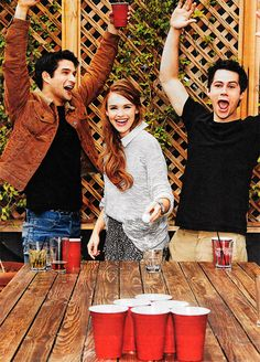 Tyler Posey, Holland Roden and Dylan O'Brien