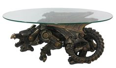 Remarkable steampunk dragon table