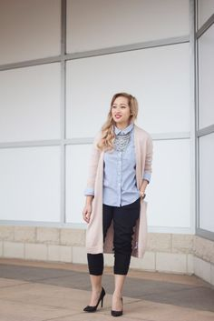 Keeping it Semi-Casual | Striped Button Down + Jogger - JANET GWEN