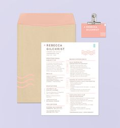 Branding concept featuring a playful, contemporary CV/ resume design complete with business cards. Created for a client in the media industry, this project uses pastel inspired colours and minimalistic graphics paired with clean, sans serif fonts to creat…