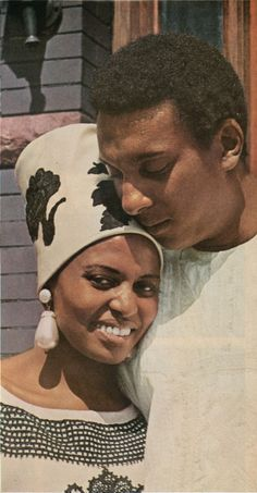 Miriam Makeba on her wedding day to Stokely Carmichael in 1968