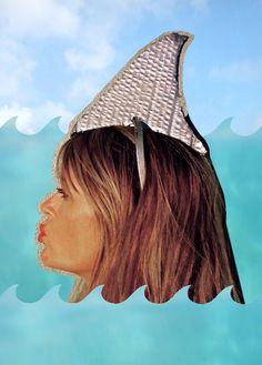 Easy last minute Halloween costume DIY: Great White Shark.