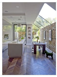 Vintage Industrial Design Ideas For Your Loft Vintage Industrial Kitchen House Extension Design, Extension Designs, Glass Extension, Extension Ideas, Patio Interior, Industrial House, Vintage Industrial, Industrial Style, House Extensions