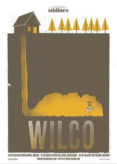 awesome indie music band posters | Wilco | 40 Awesome Concert Posters - Yahoo! Music