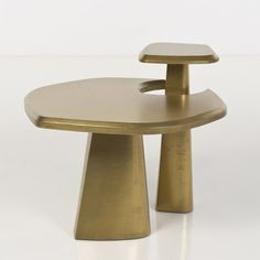Charles Tassin  Dubll  Table  Wood coated with gold plating  Prototype  Creation date: 2015  H 69 × W × D 79 cm 79