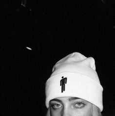 Other - billie eilish white blohsh beanie merch Billie Eilish, Fille Gangsta, Album Cover, Babe, Black And White Aesthetic, Favorite Person, Cool Girl, Beautiful People, Grunge