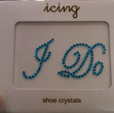 """$8.50 at Icing by Claires. They stick on the bottom of your heals. Neat way to get your """"something blue"""""""
